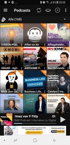 Podcast-Player Übersicht