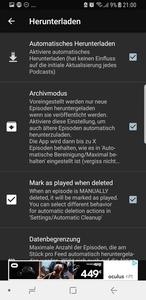 Archivmodus Podcast Addict