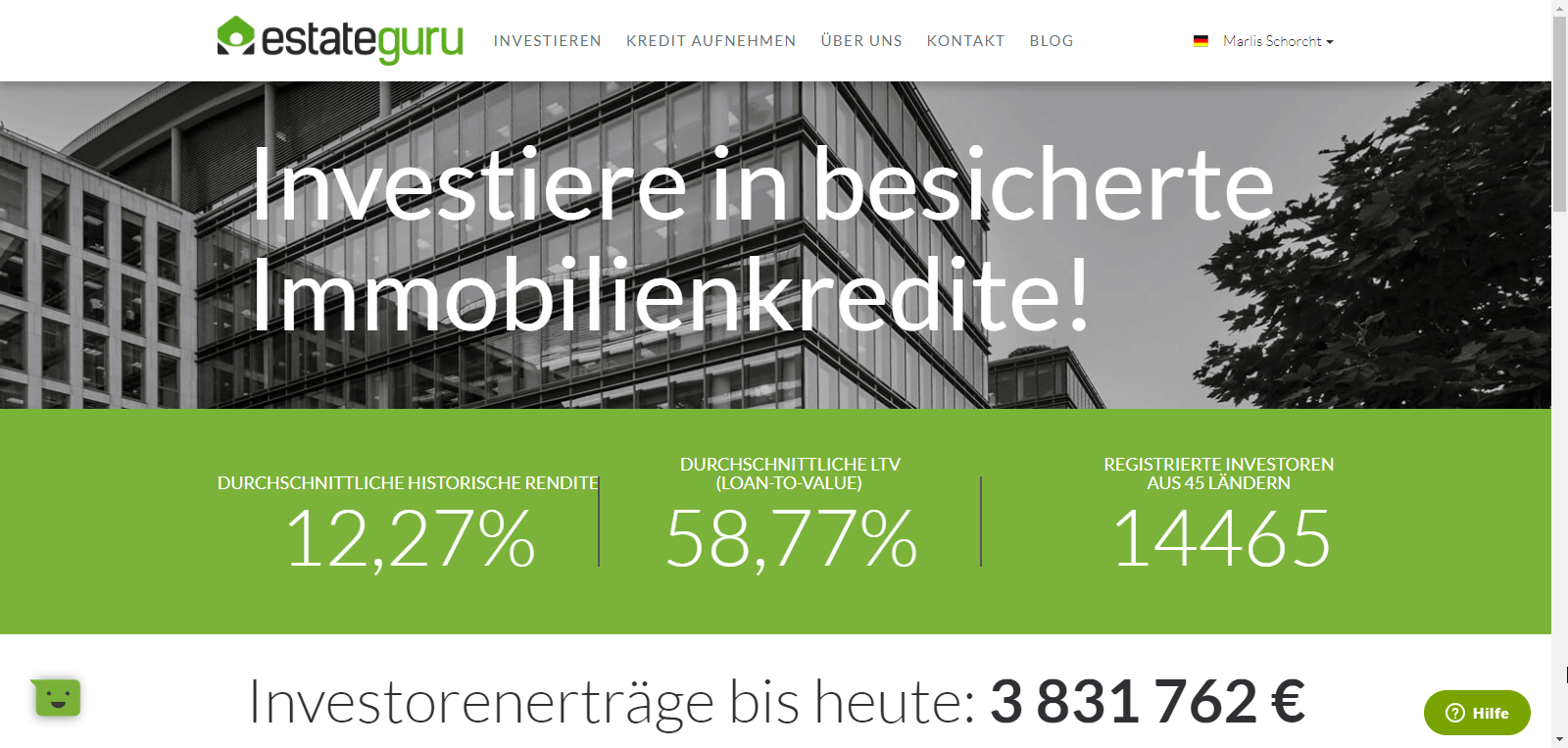 estateguru Immobilienkredite P2P