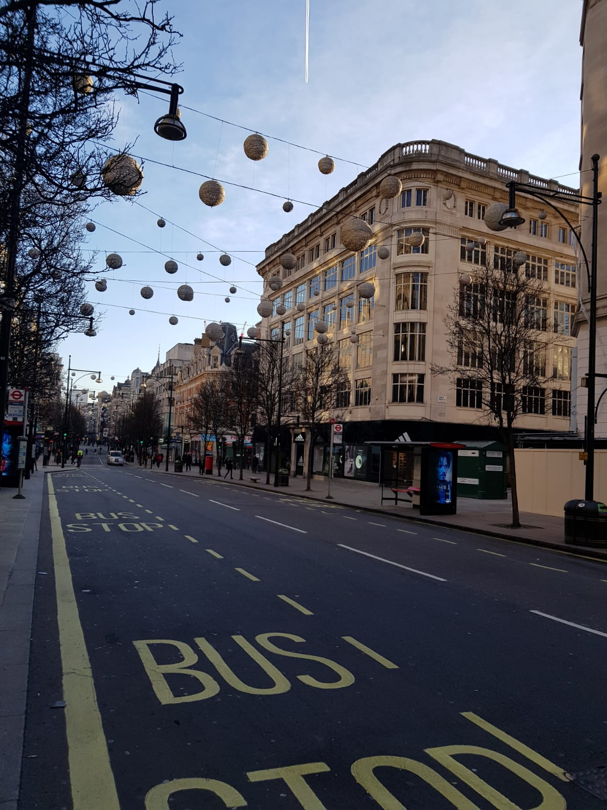 Oxford Street in London Weihnachten