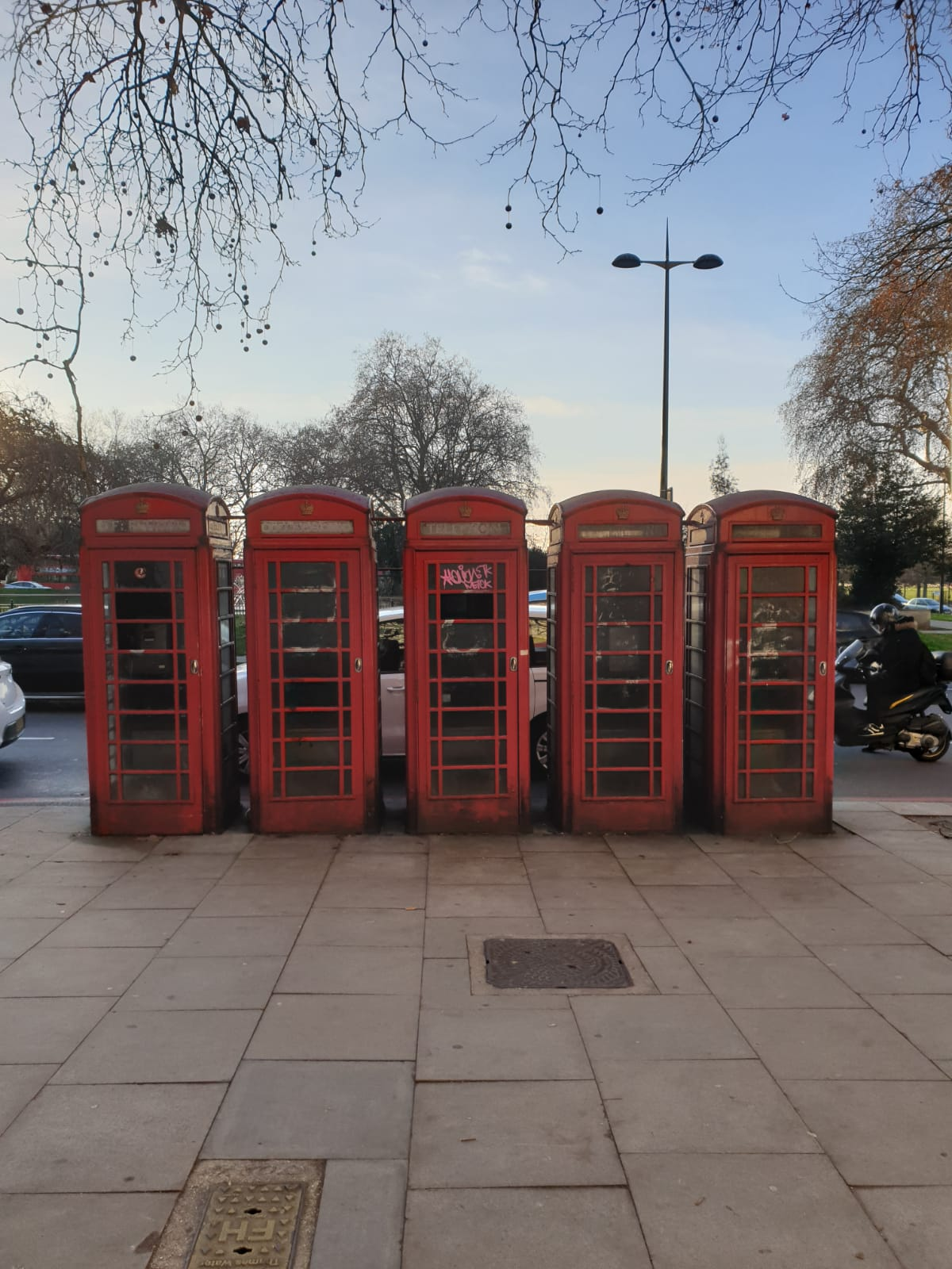rote Telefonzellen in London