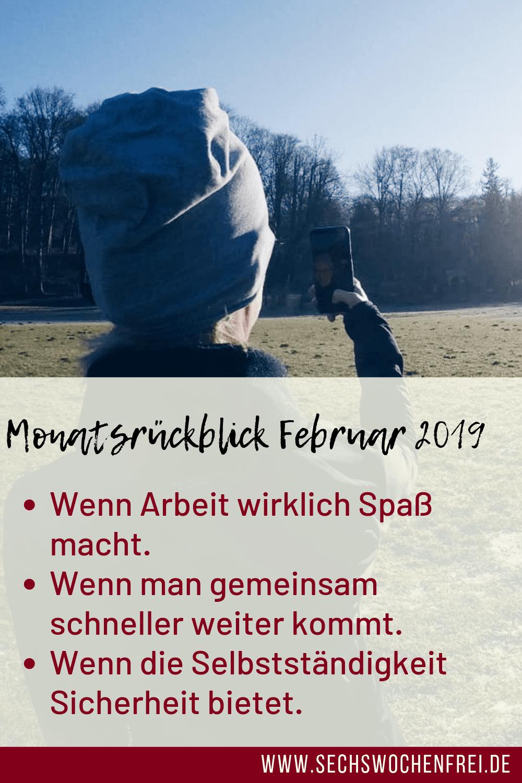 monatsrückblick selbstständig sein im februar 2019