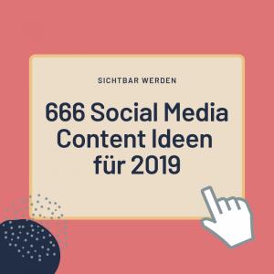 Social Media Content Ideen Kalender 2019 (2)
